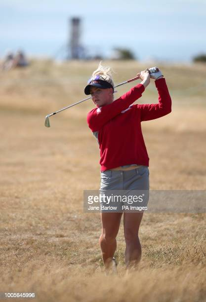 England's Charley Hull with her second shot on the 16th hole during day one of the 2018 Aberdeen Standard Investments Ladies Scottish Open at Gullane...