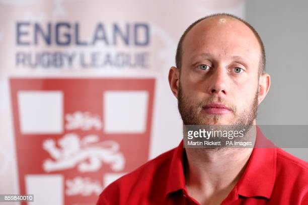 England's Chris Hill during the media session at the Village Hotel Bury