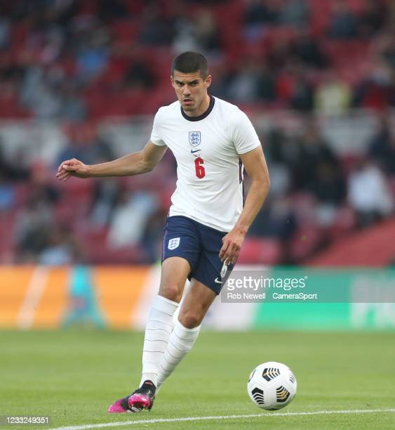 England's Conor Coady during the international friendly match between England and Austria at Riverside Stadium on June 2, 2021 in Middlesbrough,...