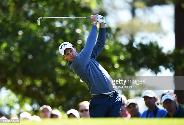 England's Danny Willett tees off during Round 2 of the 80th Masters Golf Tournament at the Augusta National Golf Club on April 8 in Augusta Georgia /...
