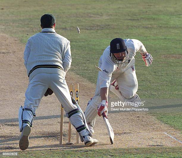 England's Darren Maddy is run out by South African wicketkeeper Mark Boucher for 3 on the fifth day of the 5th Test match between South Africa and...