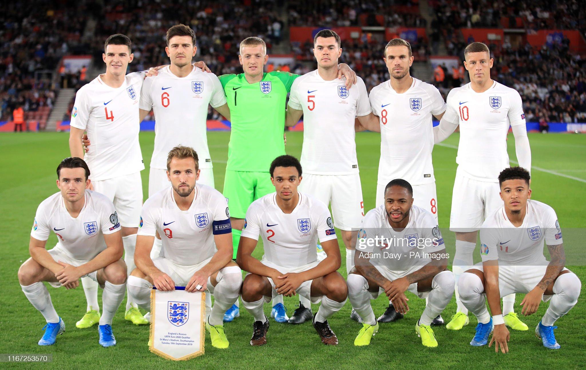 England v Kosovo - UEFA Euro 2020 Qualifying - Group A - St Mary's : News Photo