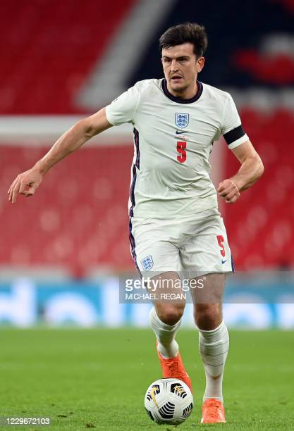 England's defender Harry Maguire during the UEFA Nations League group A2 football match between England and Iceland at Wembley stadium in north...