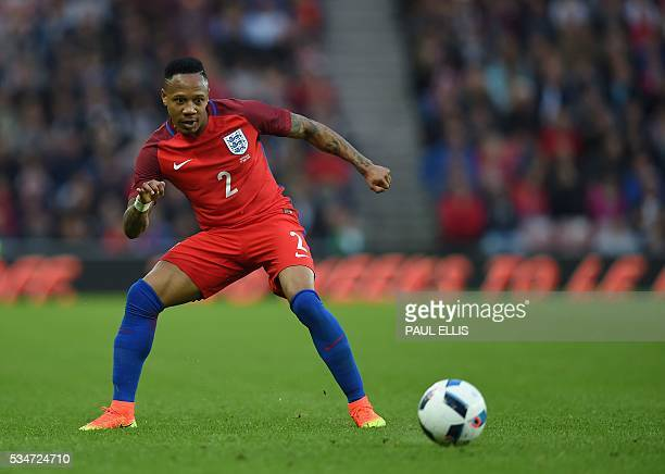 England's defender Nathaniel Clyne in action during the friendly football match between England and Australia at the Stadium of Light in Sunderland,...