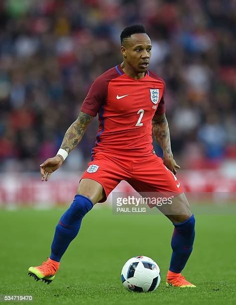 England's defender Nathaniel Clyne is pictured during the friendly football match between England and Australia at the Stadium of Light in Sunderland...
