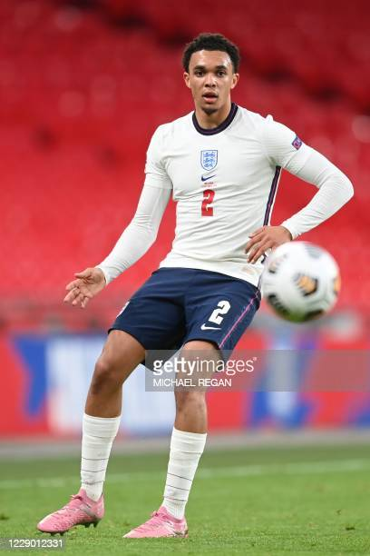 England's defender Trent Alexander-Arnold during the UEFA Nations League group A2 football match between England and Belgium at Wembley stadium in...