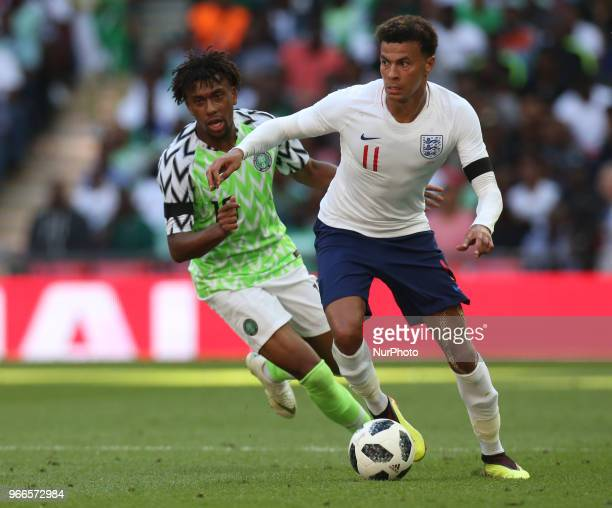 England's Dele Alli during International match between England against Nigeria at Wembley stadium London on 02 June 2018