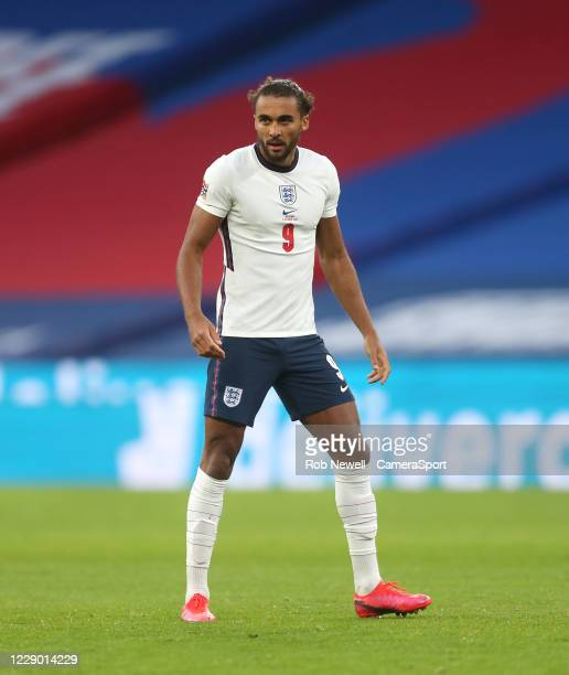 England's Dominic Calvert-Lewin during the UEFA Nations League group stage match between England and Belgium at Wembley Stadium on October 11, 2020...