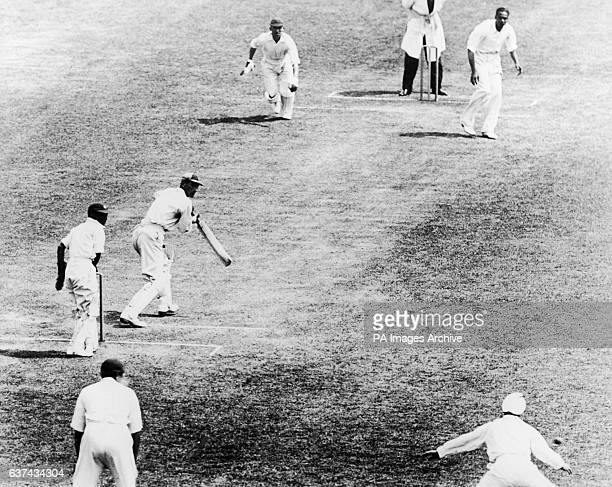 England's Douglas Jardine edges a ball from India's L Amar Singh past the slips
