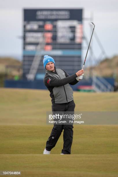 England's Eddie Pepperell plays his approach to the 16th hole during day four of the Alfred Dunhill Links Championship at The Old Course St Andrews