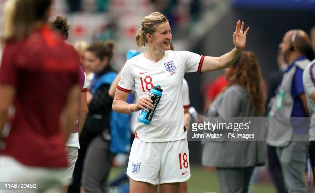 England's Ellen White acknowledges fans after the final whistle during the FIFA Women's World Cup Group D match at the Stade de Nice