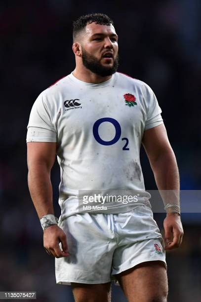 England's Ellis Genge looks on during the Guinness Six Nations match between England and Italy at Twickenham Stadium on March 9 2019 in London England