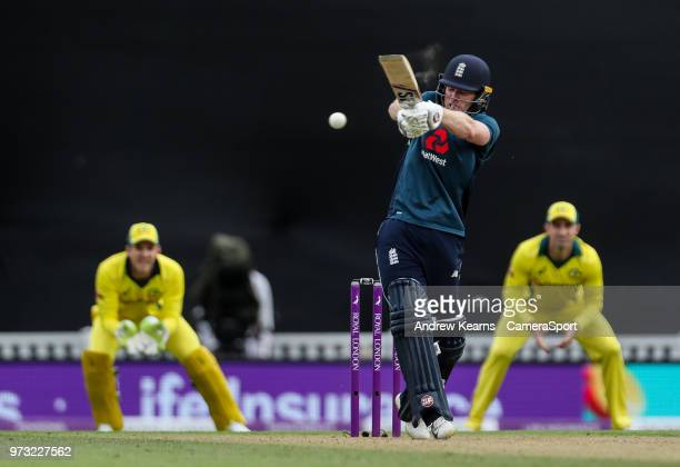 England's Eoin Morgan batting during the Royal London 1st ODI match between England and Australia at The Kia Oval on June 13 2018 in London England