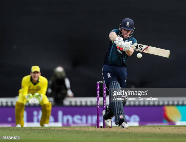 England's Eoin Morgan during the Royal London 1st ODI match between England and Australia at The Kia Oval on June 13 2018 in London England