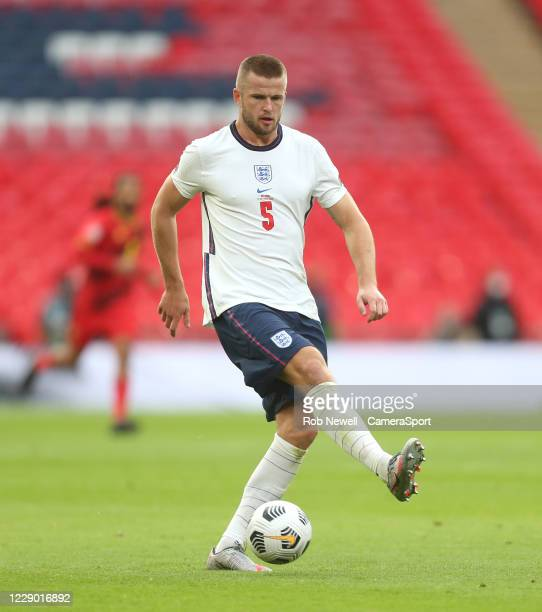 England's Eric Dier during the UEFA Nations League group stage match between England and Belgium at Wembley Stadium on October 11 2020 in London...