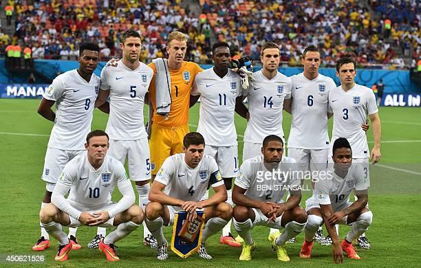 England's forward Daniel Sturridge, England's defender Gary Cahill, England's goalkeeper Joe Hart, England's forward Daniel Welbeck, England's...