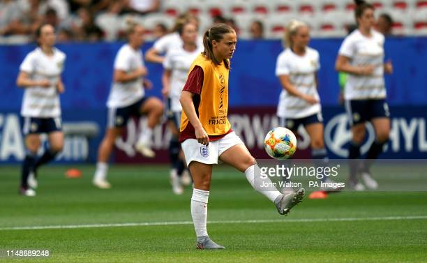 England's Fran Kirkby warms up prior to the FIFA Women's World Cup Group D match at the Stade de Nice