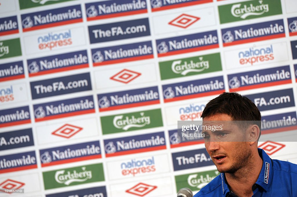 England's Frank Lampard speaks during a press conference at the Royal Bafokeng Sports Campus near Rustenburg on June 5, 2010.