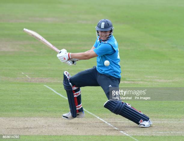 England's Gary Ballance batting during the Fourth One Day International at Lords Cricket Ground, London.