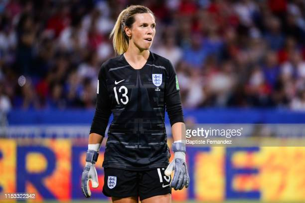 England's goalkeeper Carly Telford during the 2019 FIFA Women's World Cup France Semi Final match between England and United States at Groupama...