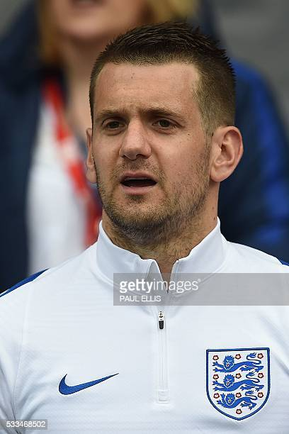 England's goalkeeper Tom Heaton ahead of the friendly football match between England and Turkey at the Etihad Stadium in Manchester north west...