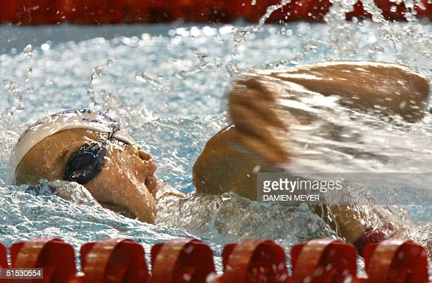 England's gold medalist Karen Pickering in action during the 2002 Manchester Commonwealth Games women's 200m freestyle final 30 July 2002 AFP PHOTO...