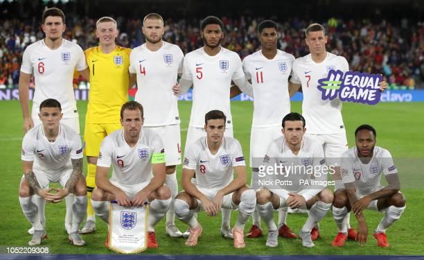 England's Harry Maguire Jordan Pickford Eric Dier Joe Gomez Marcus Rashford Ross Barkley Kieran Trippier Harry Kane Harry Winks Ben Chilwell and...