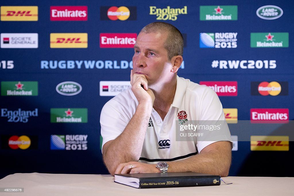 RUGBYU-WC-2015-ENG-PRESSER : News Photo