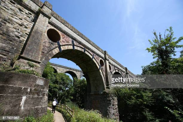 Englands highest aqueduct the Canal River Trusts Marple Aqueduct near Manchester one of 1797 Green Flag awards announced today by Keep Britain Tidy