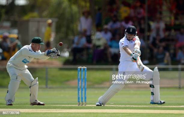 England's Ian Bell bats during the tour match at Traeger Park Alice Springs Australia