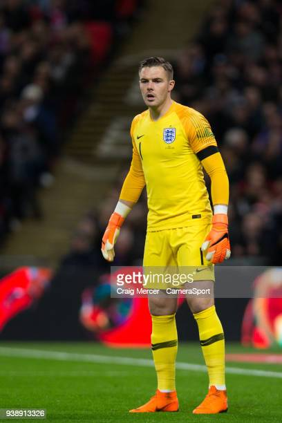 England's Jack Butland during the International Friendly match between England and Italy at Wembley Stadium on March 27 2018 in London England