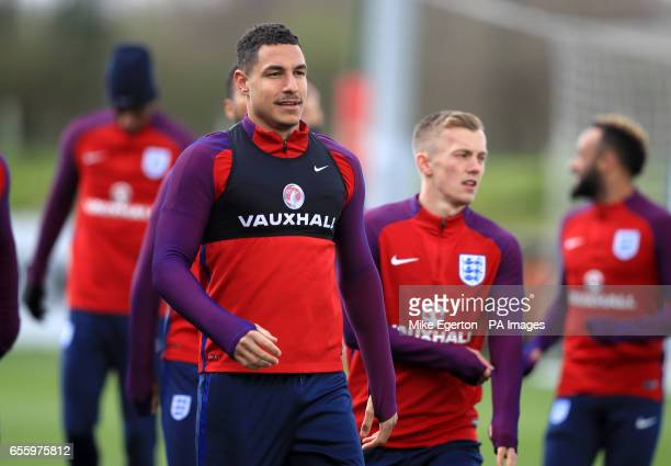 England's Jake Livermore during a training session at St George's Park Burton