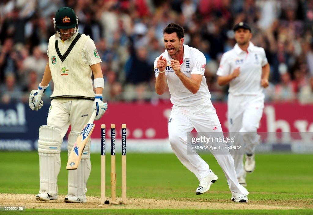 Cricket - First Investec Ashes Test - England v Australia - Day One - Trent Bridge : News Photo