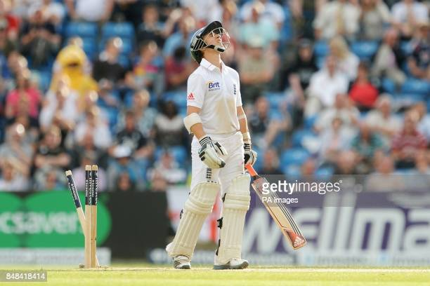 England's James Taylor after being bowled by South Africa's Morne Morkel during the Investec Second Test match at Headingley Carnegie Leeds