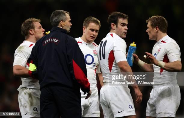 England's Jamie Noon Mathew Tait Charlie Hodgson and Josh Lewsey