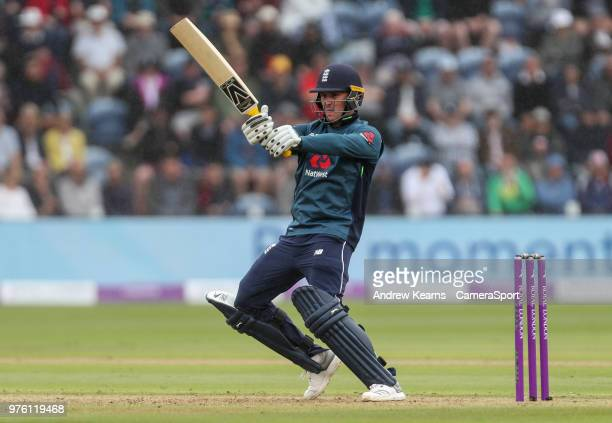 England's Jason Roy during the Royal London OneDay Series 2nd ODI between England and Australia at Sophia Gardens on June 16 2018 in Cardiff Wales
