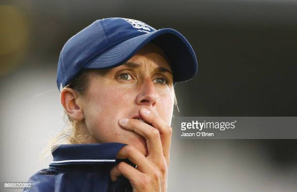 England's Jenny Gunn in the field during the Women's One Day International match between Australia and England on October 26 2017 in Coffs Harbour...