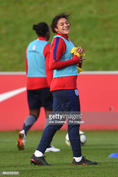 England's Jessica Carter during the training session at St George's Park Burton