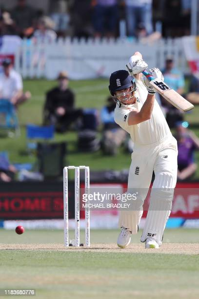 Englands Joe Denly bats on day one of the first Test cricket match between England and New Zealand at Bay Oval in Mount Maunganui on November 21 2019