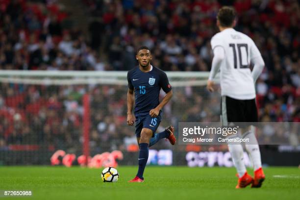 England's Joe Gomez in action during the International Football Friendly match between England and Germany at Wembley Stadium on November 10 2017 in...