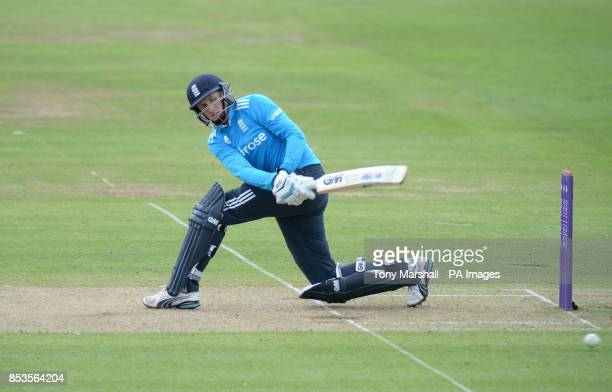 England's Joe Root batting during the Fourth One Day International at Lords Cricket Ground, London.