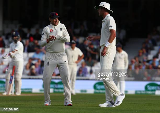 England's Joe Root during International Specsavers Test Series 5th Test match Day Four between England and India at Kia Oval Ground, London, England...