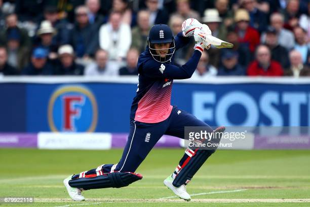 England's Joe Root hits out during the Royal London ODI between England and Ireland at Lord's Cricket Ground on May 7 2017 in London England