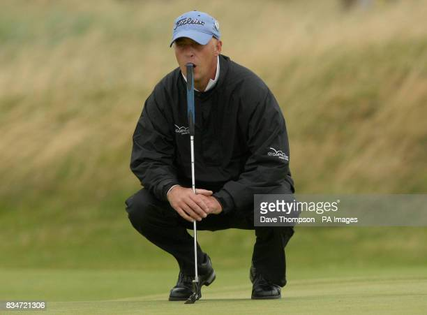 England's Jon Bevan on the 14th green during Round One of the Open Championship at the Royal Birkdale Golf Club Southport