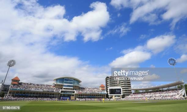 England's Jonny Bairstow bats during the third OneDay International cricket match between England and Australia at Trent Bridge cricket ground in...
