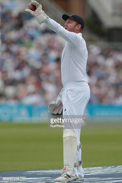 England's Jonny Bairstow during Day Three of the Fourth Investec Test Match between England and Pakistan played at The Kia Oval Stadium London on...