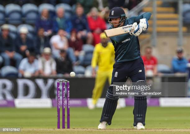 England's Jonny Bairstow during the Royal London OneDay Series 2nd ODI between England and Australia at Sophia Gardens on June 16 2018 in Cardiff...
