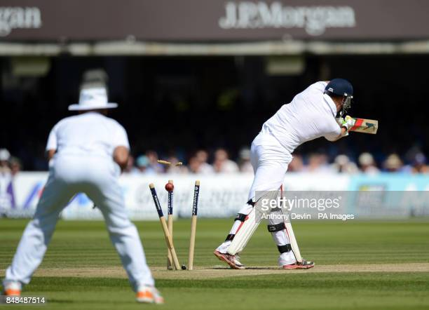 England's Jonny Bairstow is bowled out by South Africa's Morne Morkel during the Third Investec Test Match at Lord's Cricket Ground London
