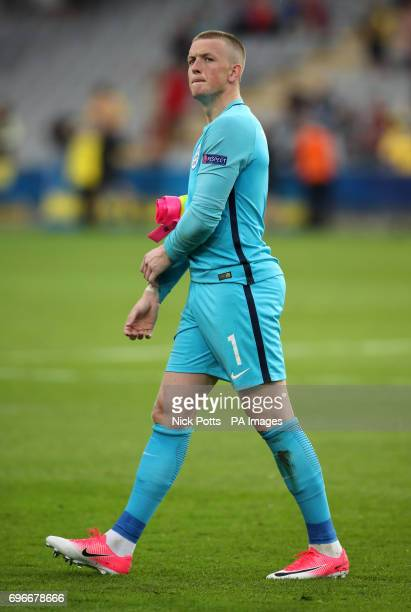 England's Jordan Pickford after the UEFA European Under21 Championship Group A match at the Kolporter Arena Kielce