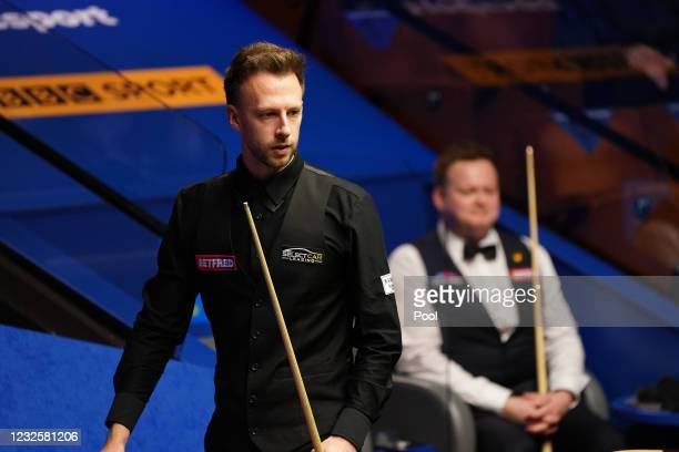 England's Judd Trump during day 12 of the Betfred World Snooker Championships 2021 at Crucible Theatre on April 28, 2021 in Sheffield, England.